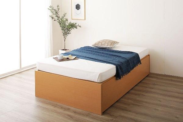 ヘッドレスの跳ね上げ式ベッド