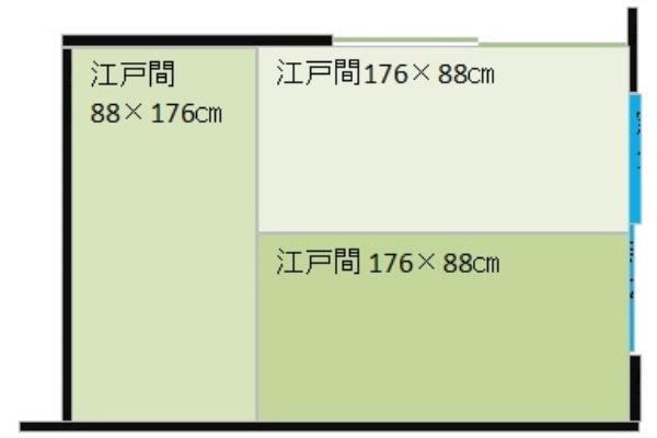 江戸間3畳の部屋