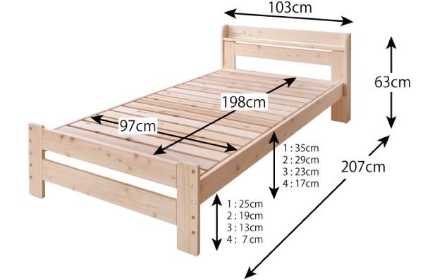 ベッドフレームの採寸